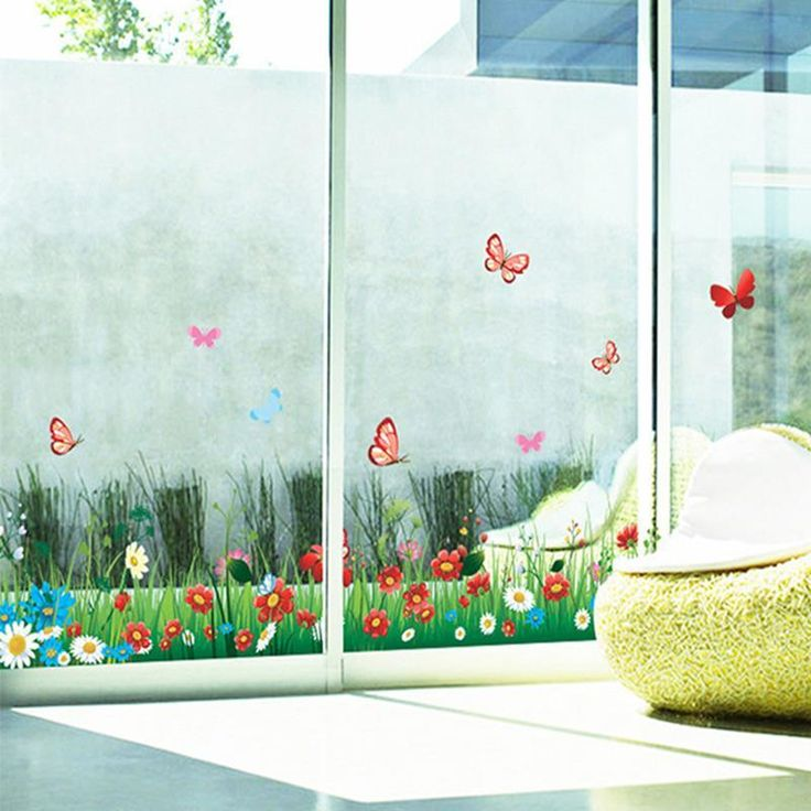 Skirting Butterfly Bushes Wall Stickers Flower Plants Grass Border Wallpaper Girls Children Women Home Room Nursery Window Decor Contemporary Wall Stickers Cool Wall Decal From Hotseller1, $15.16| Dhgate.Com