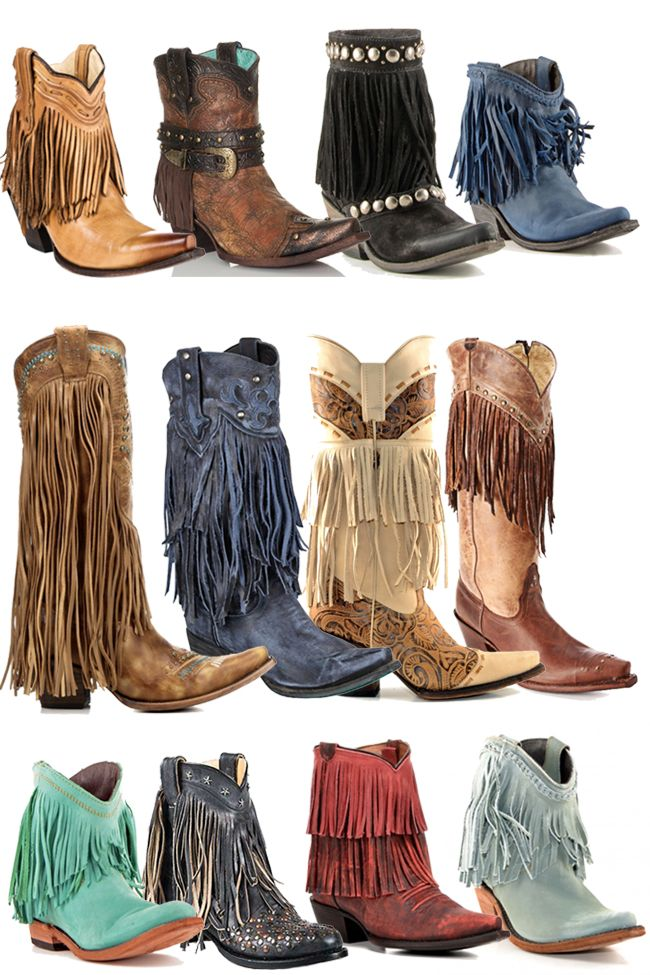 12 Pairs of Fringe Cowboy Boots for Fall. Can you pick a favorite?