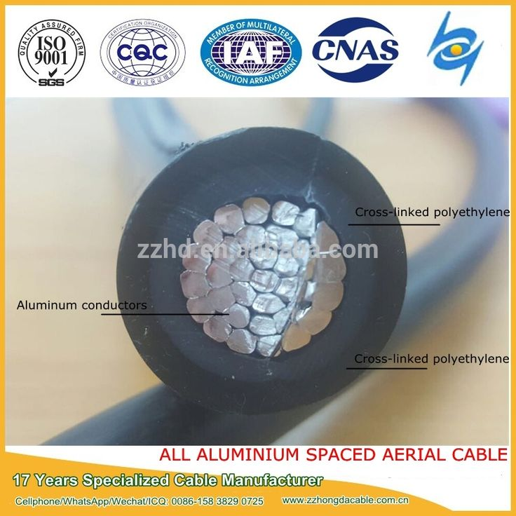 Aluminum Stranded Conductor Cross-linked Polyethylene Insulated and Sheathed space aerial cable