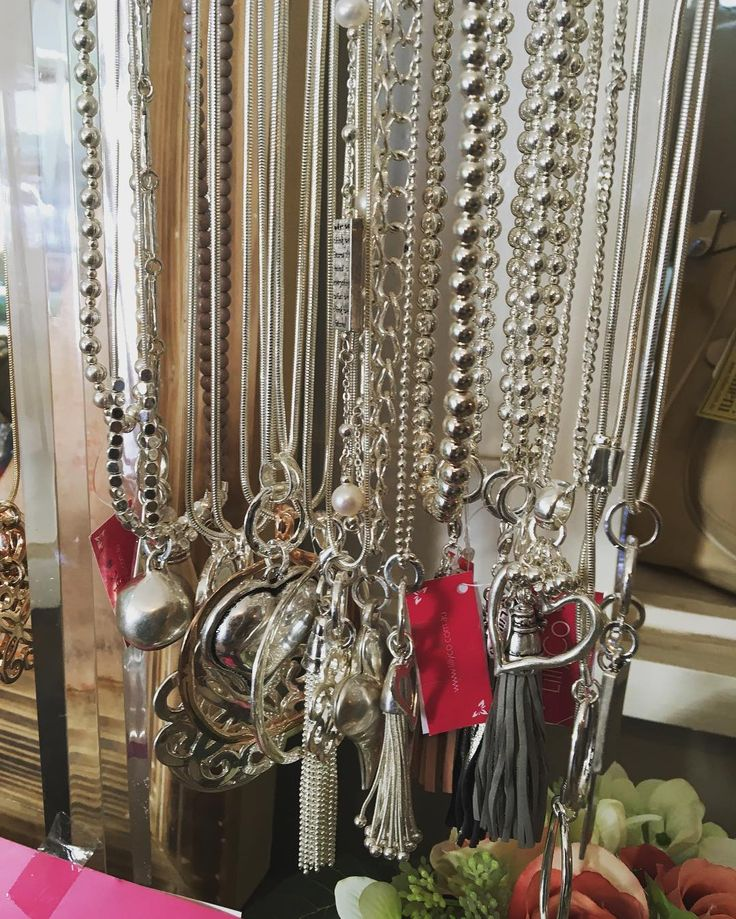 Silver necklaces galore! Love them! Great style from the lovely Jane @lillycoaccessories #silver #necklace #bling #jewelry #completeyouroutfit #summer16  #fashion #style
