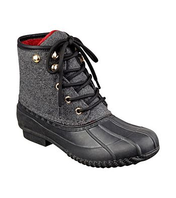"""Tommy Hilfiger® """"Roan"""" Duck Boots   Herberger's COLOR MARINE SIZE 6 or 7"""