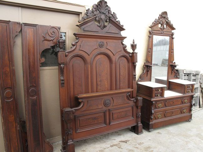 Mitchell Rammelsberg 2 Piece Walnut Bed Set. Antique BedsVictorian FurnitureAntique  FurnitureBed ... - 49 Best Antique Wooden Bed Box Images On Pinterest Antique
