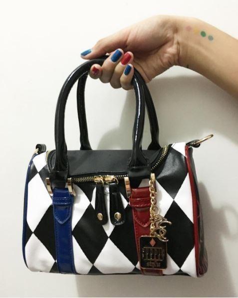 Mad for this bag! // DC Comics Suicide Squad Harley Quinn Mini Barrel Bag