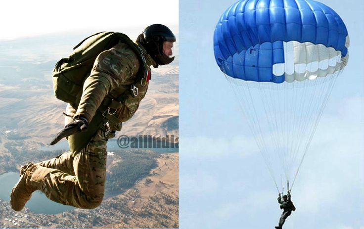 MS Dhoni Makes His Maiden Para Jump from a Height of 1250 Feet