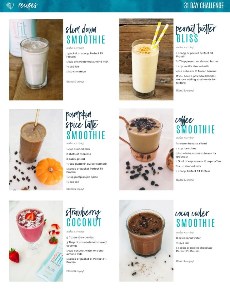 23 Protein Shake Recipes to Make You Lean & Strong Fall smoothies
