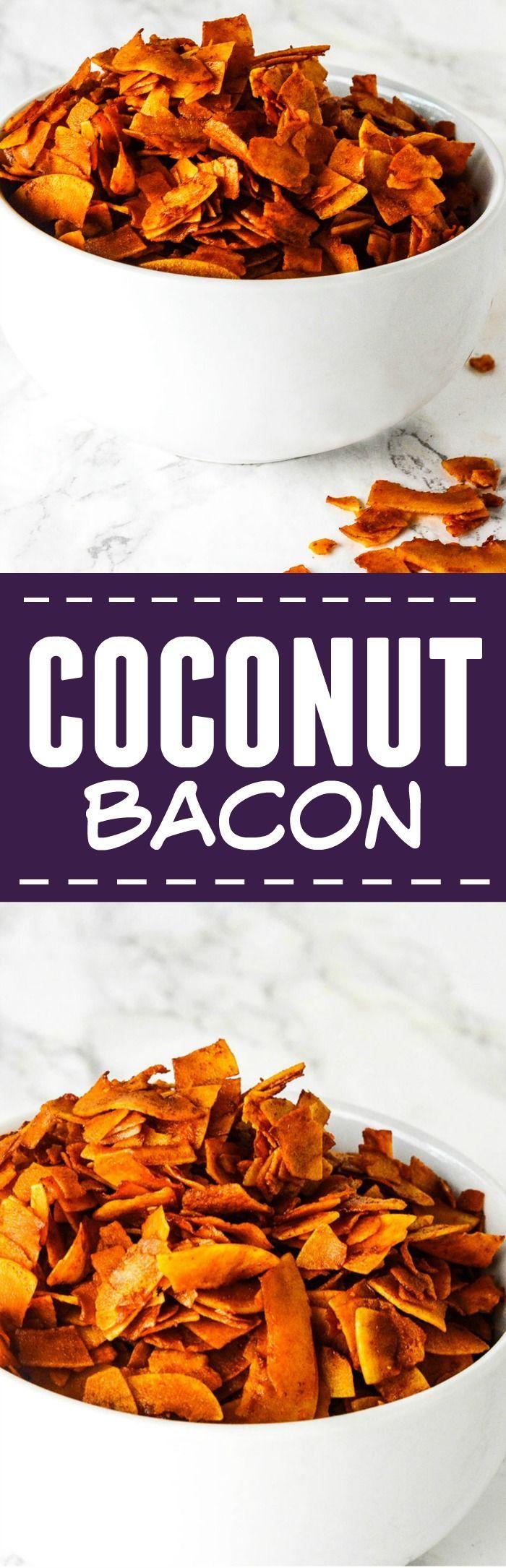 Coconut Bacon (vegan, glutenfree) Easy to prepare, use instead of bacon #vegan #glutenfree
