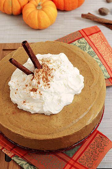 Paleo Pumpkin Cashew Cheesecake - Paleo Fondue #paleo and #vegan
