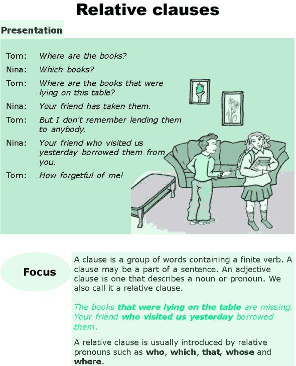 Grade 6 Grammar Lesson 10 Relative clauses