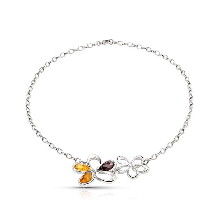 Collana da Donna Morellato Fleur in Acciaio con Diamanti Naturali, Ametista e... in Orologi e gioielli, Gioielli di lusso, Collane e pendagli | eBay