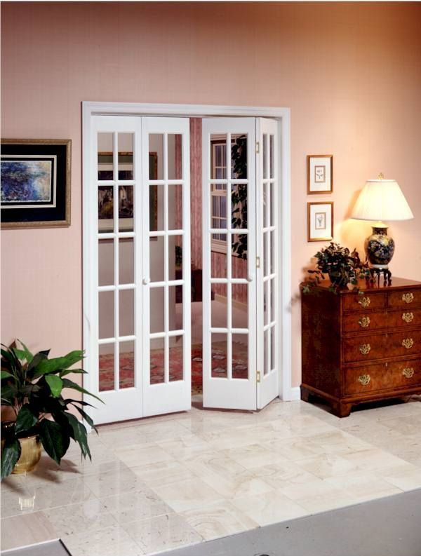 Bifold glass doors for living room / sunroom.