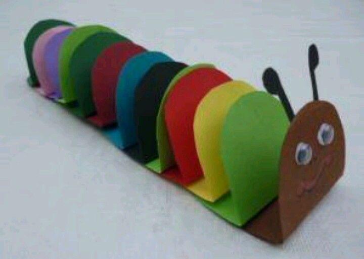 Gusano de colores manualidades para ni os pinterest for Caja de colores jardin infantil