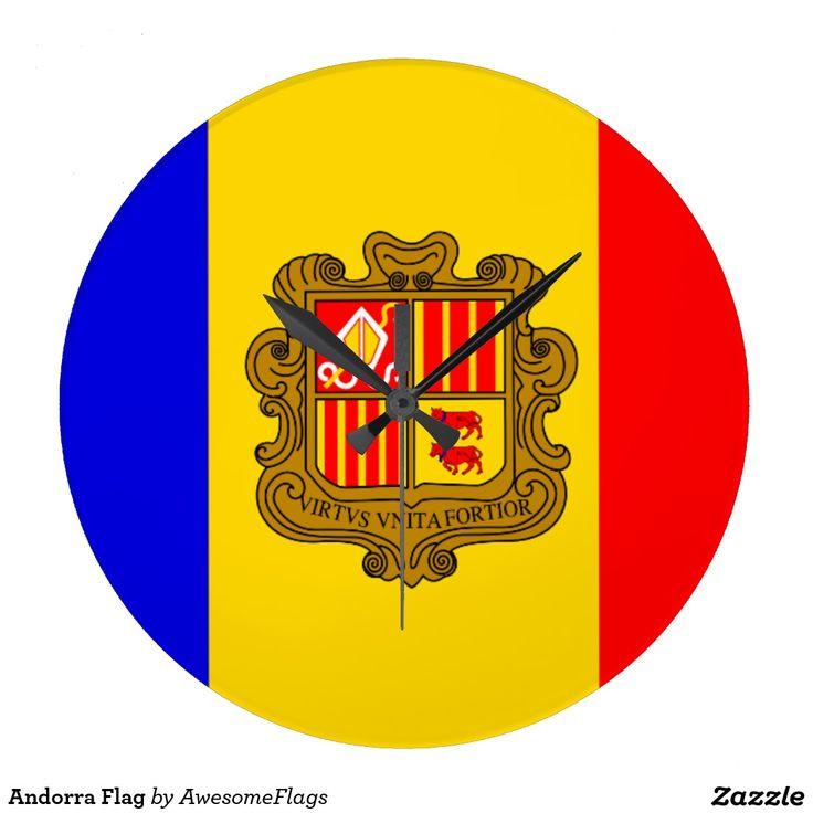 Andorra Flag Wall Clocks