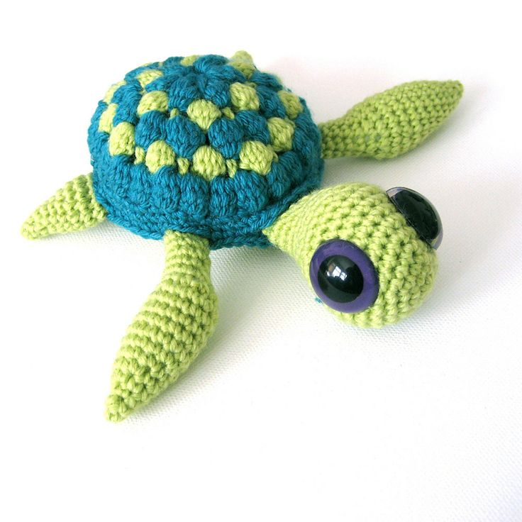 Crochet Patterns Turtle : Marty The Sea Turtle Amigurumi Crochet Pattern by irenestrange, $5.00