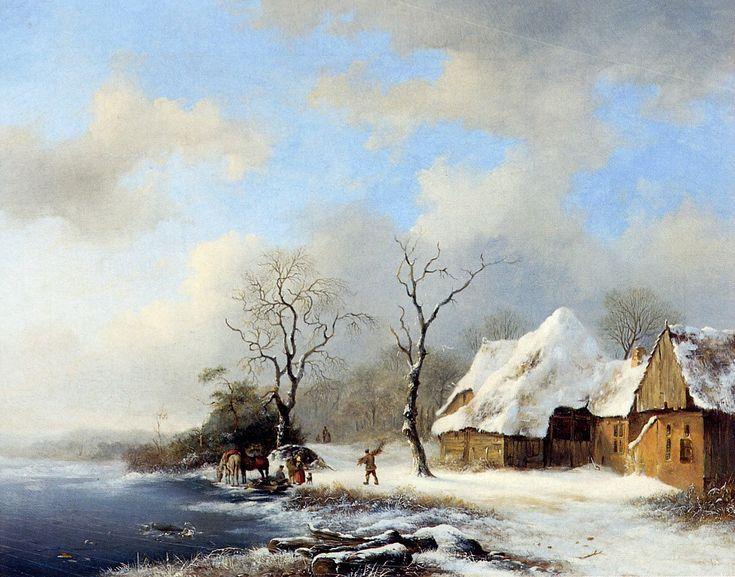 Frederik Marinus Kruseman - Winterlandschap (1)