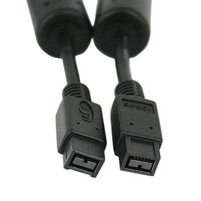 HDE® 1 Meter FireWire 800 1394b 9-pin to 9-pin cable by HDE. Save 92 Off!. $1.50. Make your connections with the latest FireWire technology. This FireWire IEEE 1394b cable can transfer data up to 800Mbps. This cable is specifically designed for digital camcorders, scanners, printers, storage devices and other FireWire devices.     Features: Supports Plug and Play operation, Hot Pluggable, Molded strain relief and PVC over-molding to ensure a lifetime of error-free data transmissions.