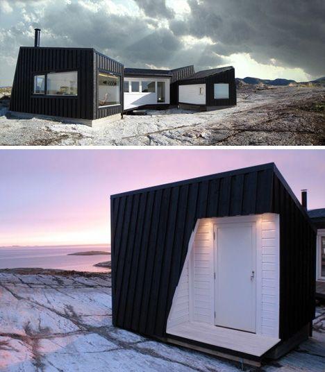Norway coastal cabin