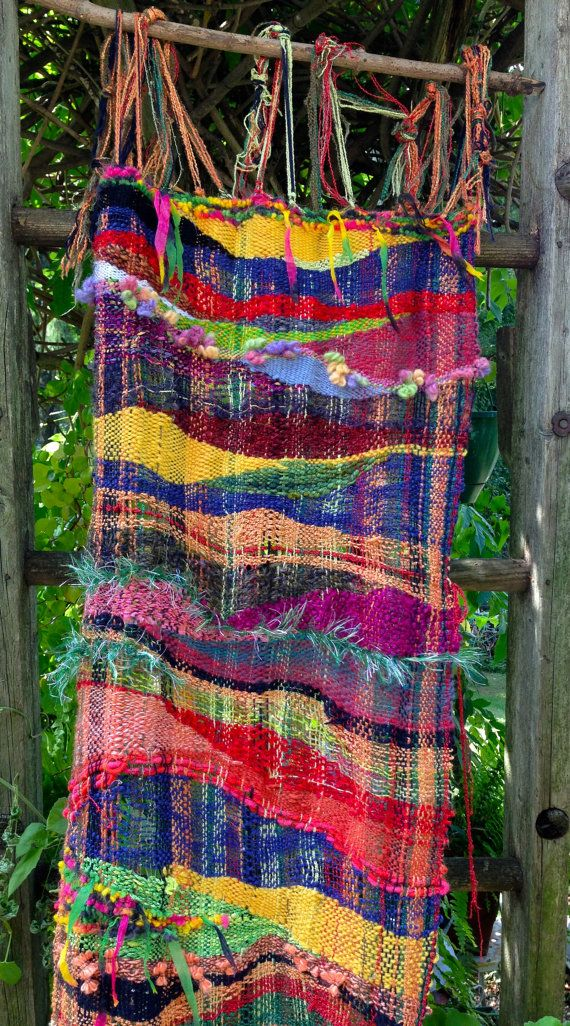 Sunshine Road Saori Wall Hanging by JeriGillinWeaving on Etsy