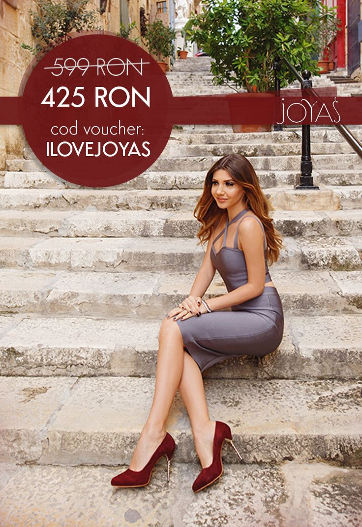 """You can have the Zoe bordo pumps made of suede with 35% discount if you use the voucher code """"ilovejoyas"""" at check- out @joyasromania"""