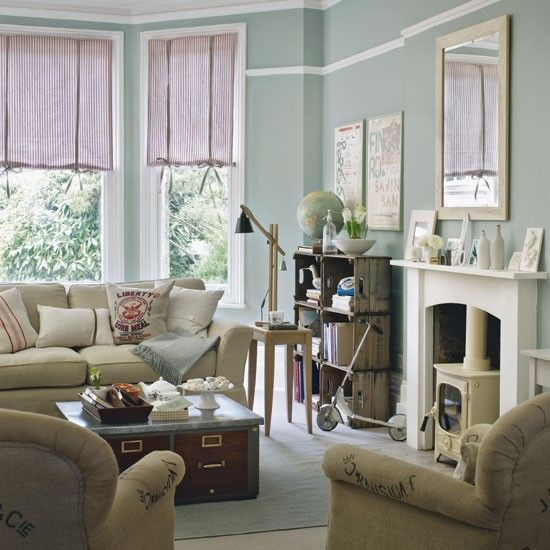 Relaxed vintage living room | Living room idea | housetohome.co.uk