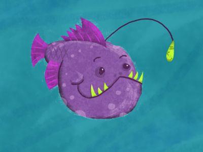 Friendly Angler fish WIP by Scott Soeder