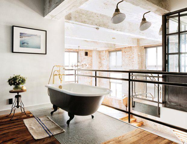 David Karp Apartment Bathroom 620x478 David Karps Apartment Is Minimal Yet Industrial Too