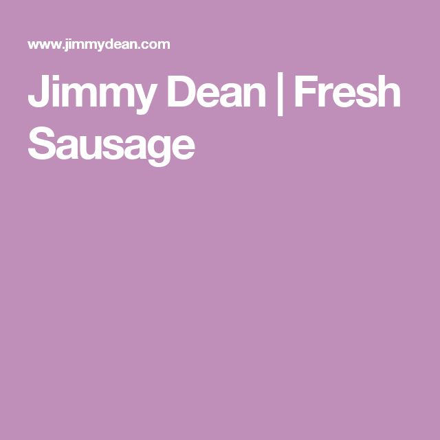 Jimmy Dean | Fresh Sausage