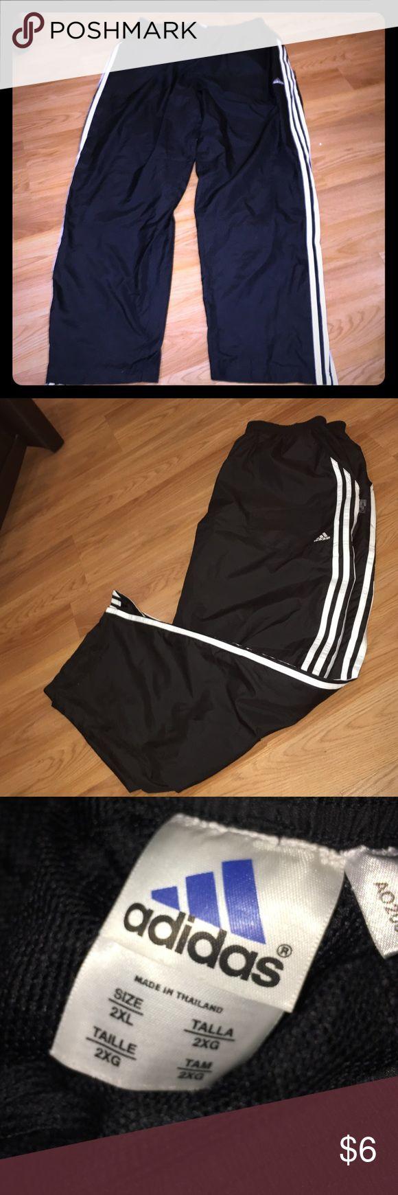 Adidas athletic pants! Great windbreaker type pants. Drawstring waist. Adidas Pants