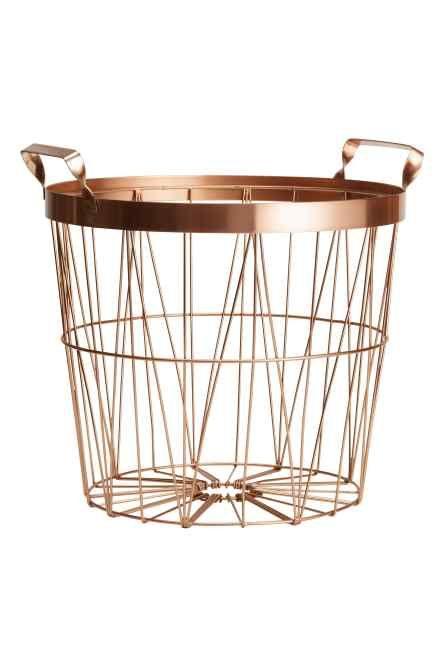 H&M -  Panier en métal 9,99 € - Couleur: Bronze