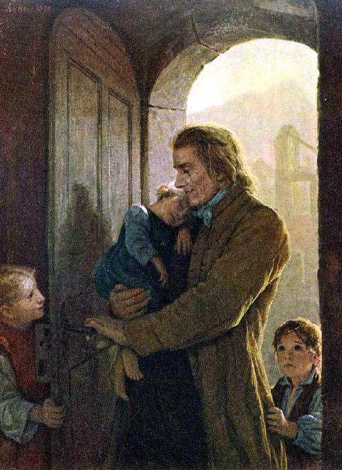 The Athenaeum - Heinrich Pestalozzi and the Orphans in Stans (Albert Anker)