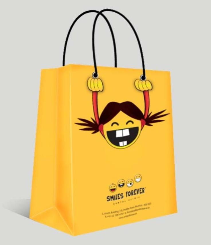 Paper bag for Smiles Forever Dental Clinic for kids.