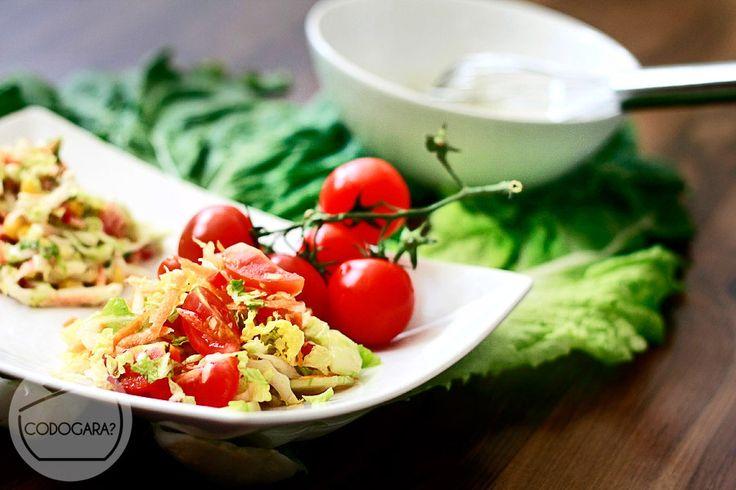 Surówka z kapusty pekińskiej | Przepisy kulinarne - Codogara.pl | Chinese cabbage salad http://www.codogara.pl/10404/surowka-z-kapusty-pekinskiej/