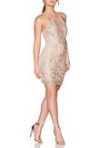 *Quiz Nude and Gold Bodycon Dress - Dorothy Perkins