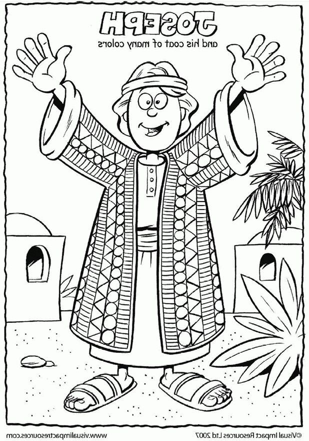 Joseph Coat Of Many Colors Coloring Page Sunday School Coloring
