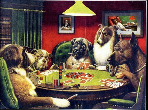 Poker Dogs By C M Coolidge 550 Piece Puzzle 171 Game