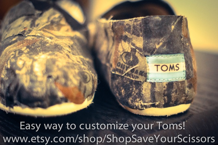 Mossy Oak Camo Toms. these actually kinda look crappily made but its a good idea! i still probably wear them