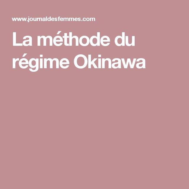 La méthode du régime Okinawa