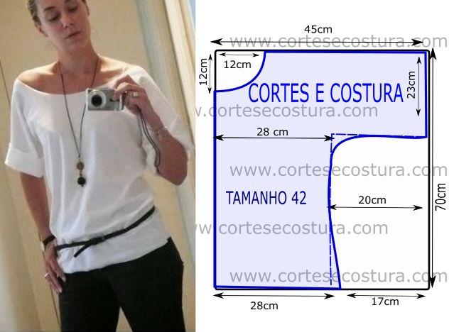 Este modelo de camisola de fácil corte e costura faz as delicias da maior parte…