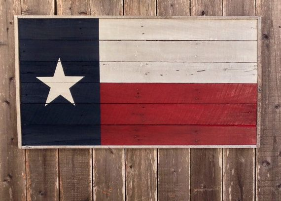 Texas Flag  Rustic Texas Decor  Rustic Wall by ShineBoxPrimitives