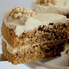 Coffee & walnut sponge cake  from  Delia's Cakes by Delia Smith