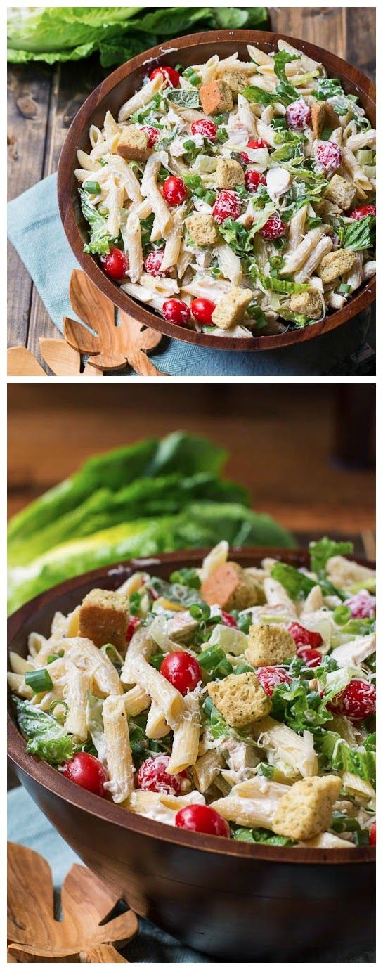 Pasta and   silver Caesar Pasta  Pasta Caesar sterling Salad ideas Salads  Pasta Party jewlery Salad