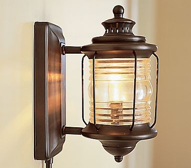 I love the Depot Sconce on potterybarnkids.com  Technically for a kids room but totally awesome!