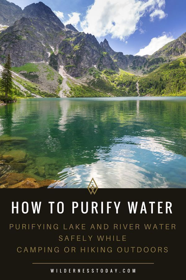 how to purify river water survival
