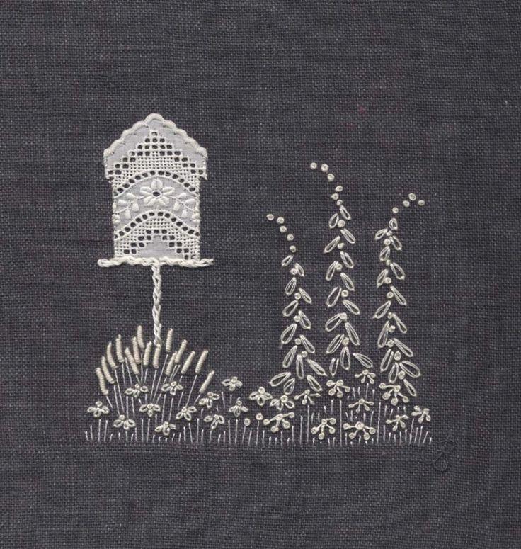 Jo Butcher, Embroidery Artist - Bird House