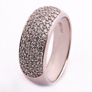 925 ayar, taşlı, gümüş bayan yüzüğü