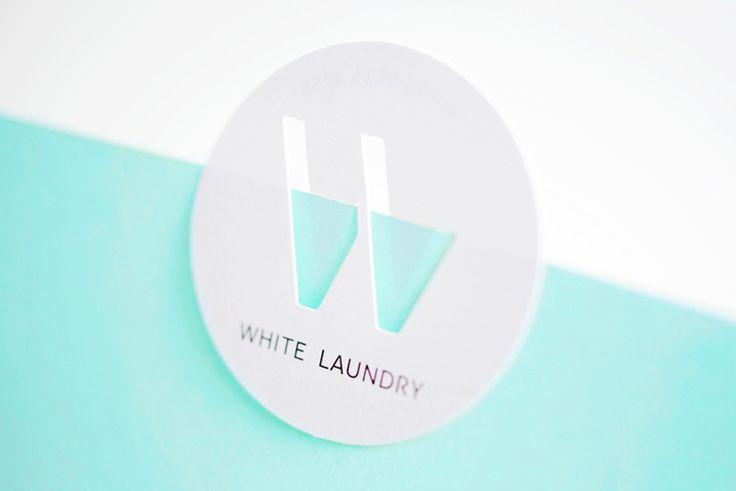 Branding & Namecard Design : White Laundry #Design #label