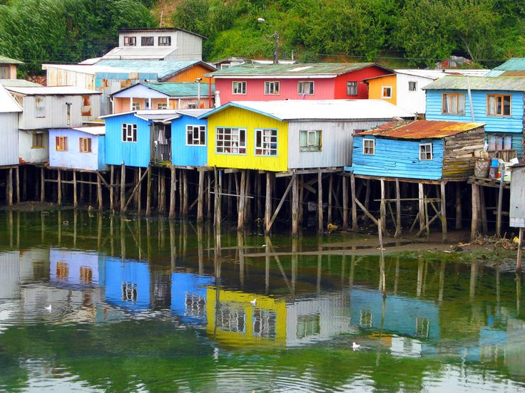 Stilted houses in Castro, Isla Chiloe, #Chile | #Travel #Cruise