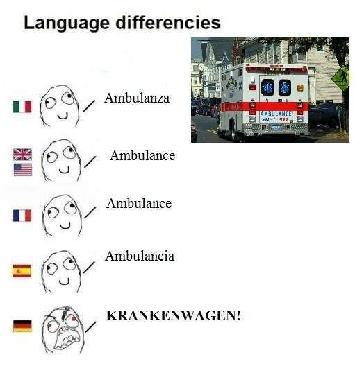 """Dizendo """"Ambulância"""" em vários idiomas."""