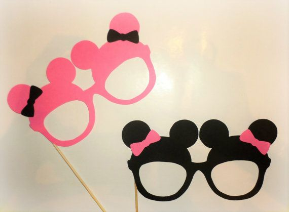 Mickey photo booth props Minnie photo booth props Mickey Mouse ears Minnie Mouse decorations Mickey Mouse printables cutouts