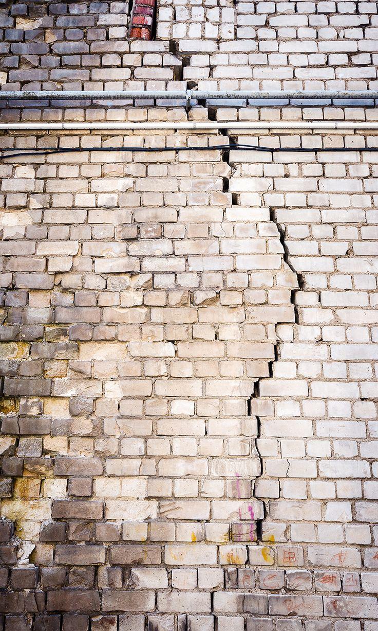 Une trop grande humidité sur un mur de briques