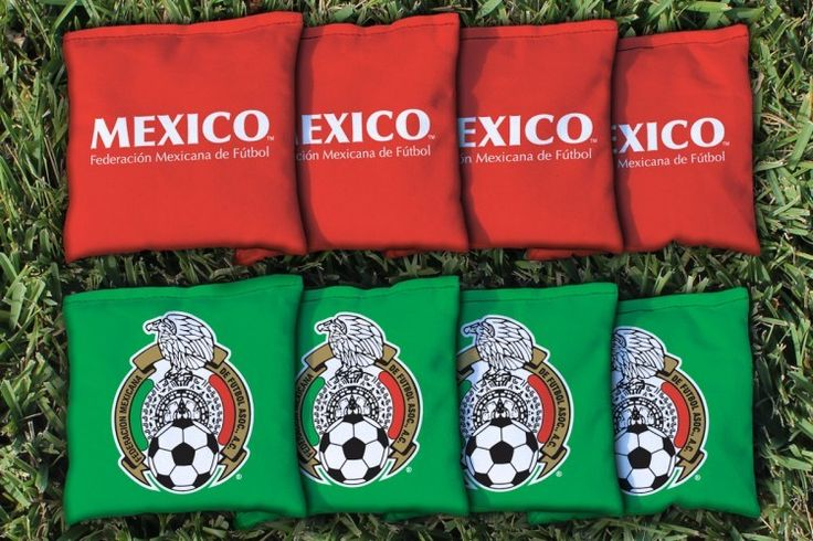 Federación Mexicana De Futbol Replacement Corn Filled Cornhole Bag Set